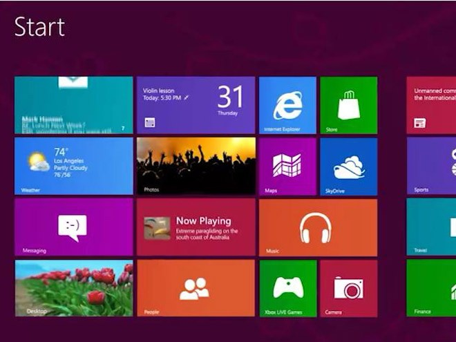 Интерфейс Modern UI в Windows 8/RT