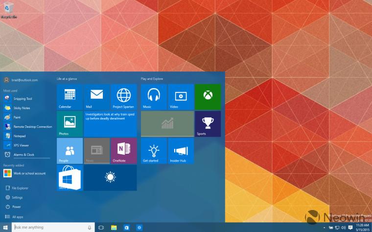 Пиратские копии Windows 10 будут маркироваться водяным знаком