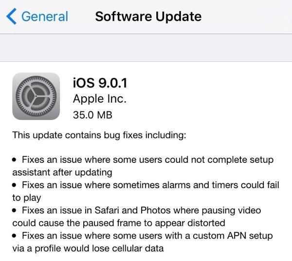 Скачать iOS 9.0.1