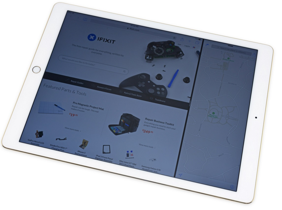 Ремонтопригодность iPad Pro оставляет желать лучшего