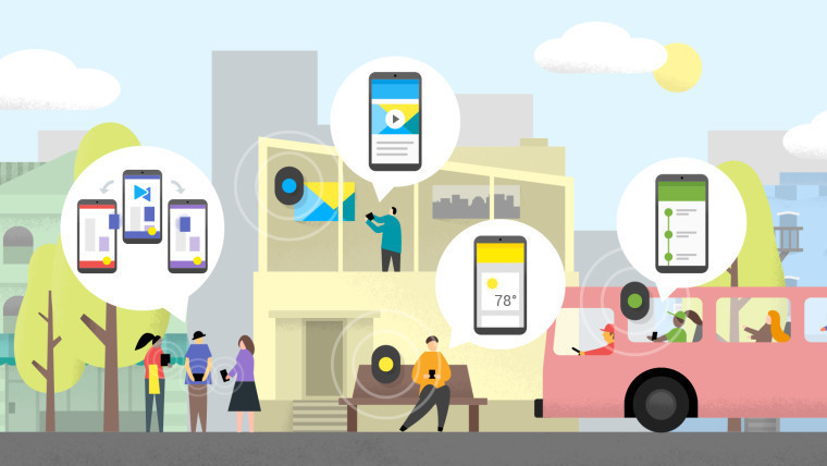 Google запускает Nearby на андроид - приложения исервисы наоснове местонахождения