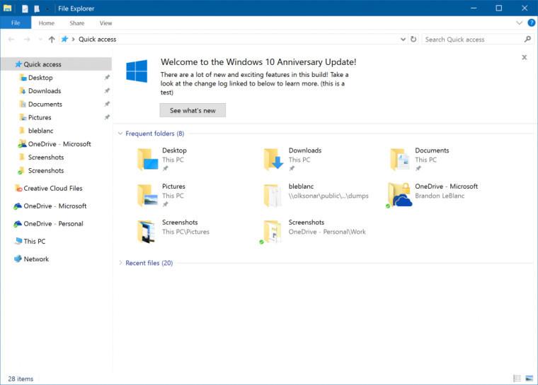 В следующем 2017 Windows 10 получит два больших обновления