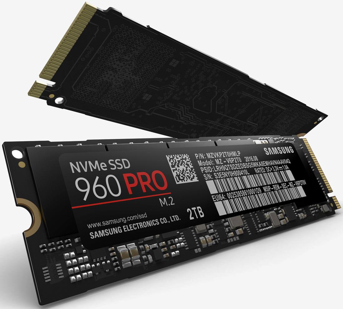 Самсунг представила новые SSD 960 Pro и960 Evo
