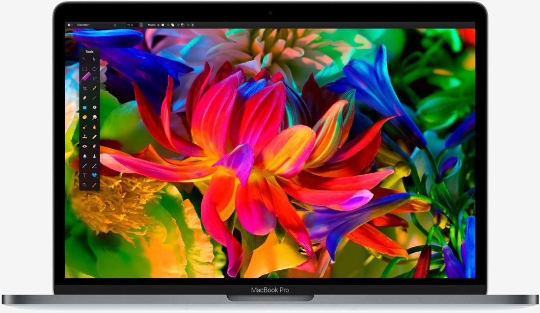 Ради места внутри MacBook Pro графический процессор Polaris 11 преобразился