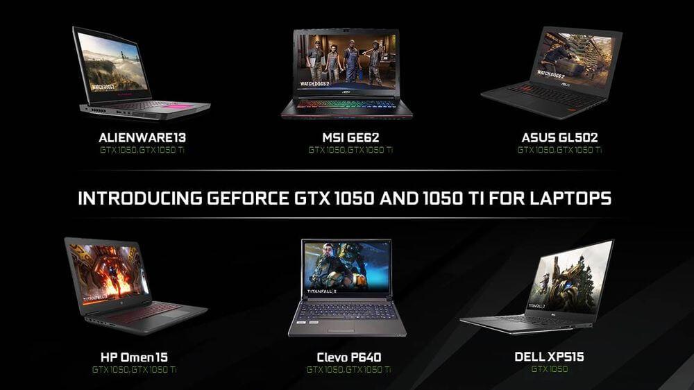 CES 2017: Nvidia анонсировала мобильные видеокарты GTX 1050 и1050 Ti