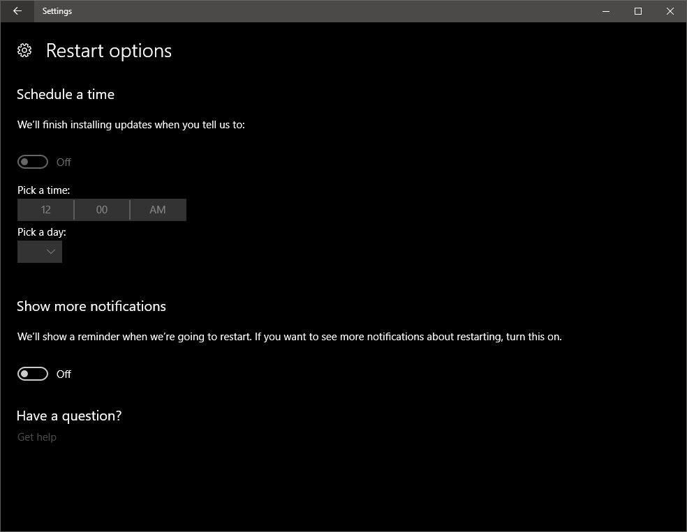 Windows 10 перестанет насильно перезагружаться после установки обновлений
