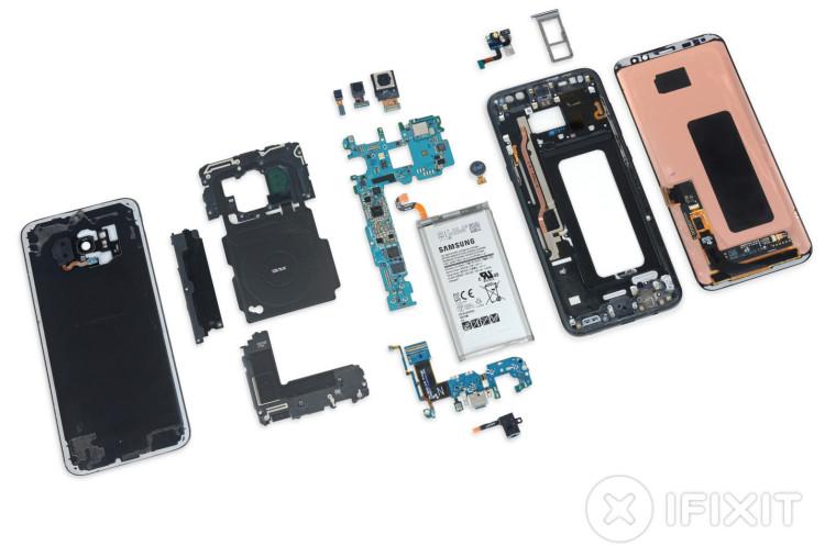 Профессионалы iFixit разобрали Galaxy S8 иS8+