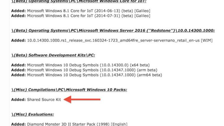 Винтернете появилась часть исходного кода Windows 10