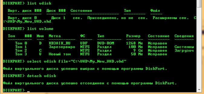 Как создать раздел на диске с помощью командной строки