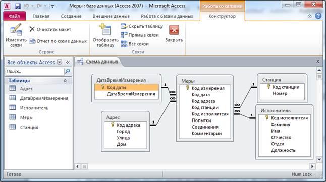 Как сделать связь таблиц в access