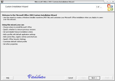Custom installation Wizard