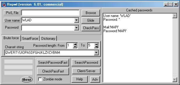 Рабочее окно программы PwlTool 6.01