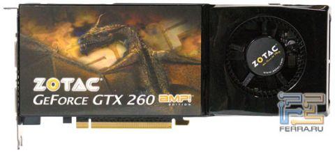 Geforce gtx 260 на тестирование попала карта от xfx из серии black edition