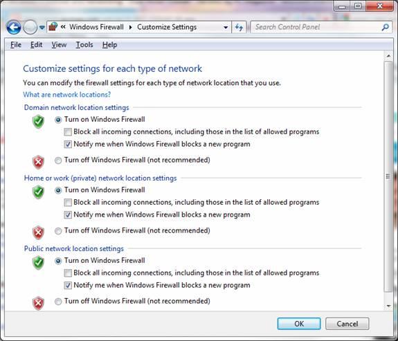 файрвол windows 7