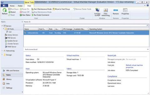 System Center Virtual Machine Manager 2012: Управление