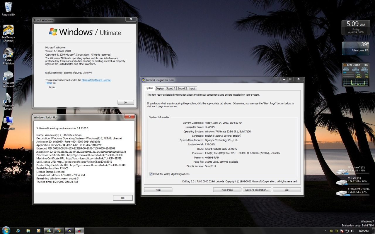 Microsoft подтверждает дату релиза Windows 7 Release Candidate (build 7100)