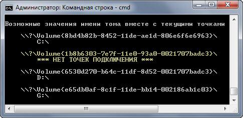 Подключение диска в папку