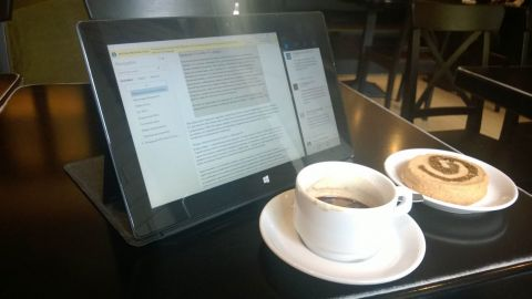Опыт использования планшета Surface RT для работы