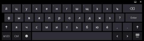 Раскладки сенсорной клавиатуры